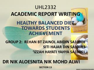 UHL2332 ACADEMIC REPORT WRITING