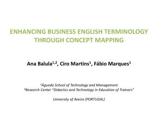 Enhancing business English terminology through concept mapping