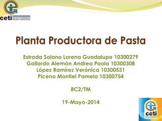 Planta Productora de Pasta