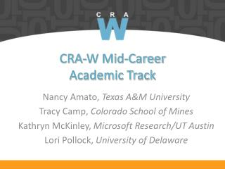 CRA-W Mid-Career  Academic Track