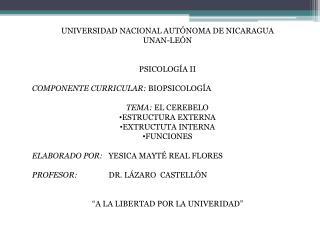 UNIVERSIDAD NACIONAL AUTÓNOMA DE NICARAGUA UNAN-LEÓN PSICOLOGÍA II