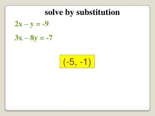 solve by substitution