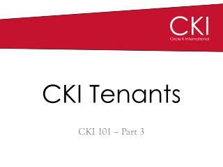 CKI Tenants