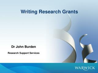 Writing Research Grants
