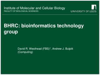 BHRC: bioinformatics technology group