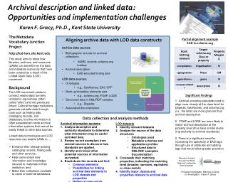 Archival description and linked data: Opportunities and implementation challenges