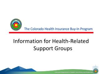 Information for Health-Related Support Groups