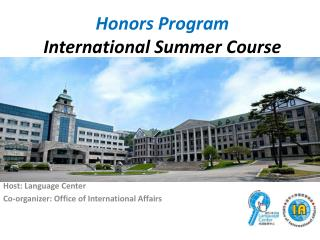 Honors Program  International Summer Course