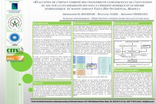Sciences  agronomiques  – UR22: Gestion conservatoire des eaux et des  sols
