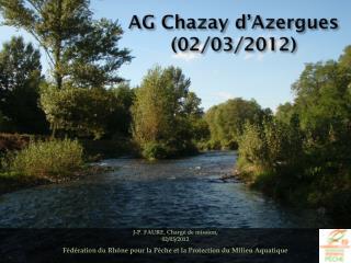 AG Chazay d'Azergues (02/03/2012)