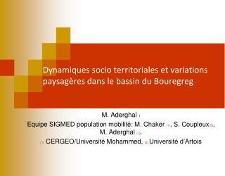 Dynamiques socio territoriales et variations paysagères dans le bassin du  Bouregreg