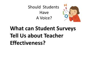 Should  Students  Have  A Voice?