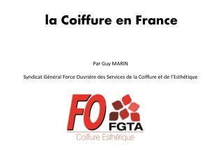 la Coiffure en France