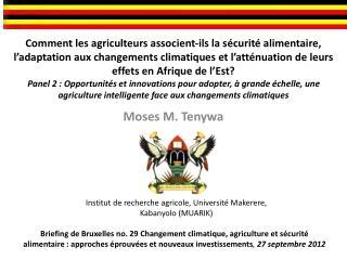 Moses M. Tenywa