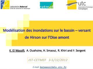 Modélisation des inondations sur le bassin – versant de Hirson sur l'Oise amont