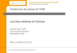 Conférence de presse de l'USS