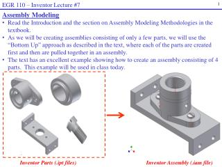 EGR 110  �  Inventor Lecture #7