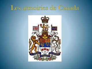 Les armoiries de Canada