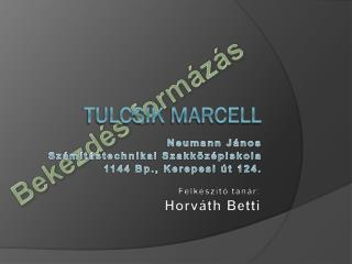 Tulcsik  Marcell