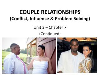 COUPLE RELATIONSHIPS (Conflict, Influence & Problem Solving)