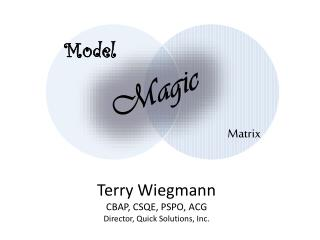 Terry Wiegmann CBAP, CSQE, PSPO, ACG Director, Quick Solutions, Inc.