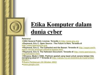 Etika Komputer dalam dunia cyber