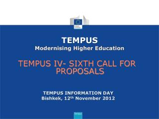 TEMPUS Modernising Higher Education