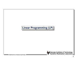 Linear Programming LP