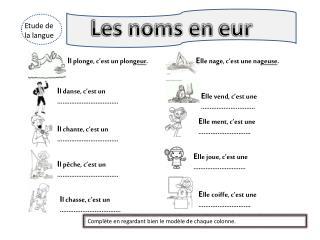 Etude de la langue