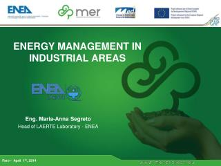 ENERGY MANAGEMENT IN INDUSTRIAL AREAS
