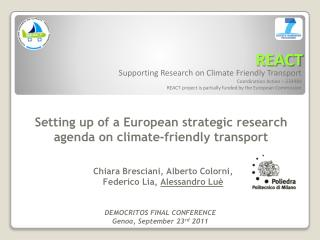 Supporting Research on Climate Friendly Transport Coordination Action –  233984
