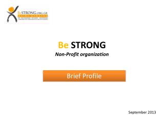 Be  STRONG  Non-Profit organization