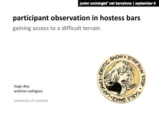 p articipant observation in hostess bars