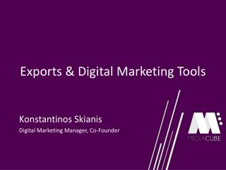 Exports & Digital Marketing Tools