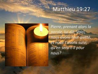 Matthieu 19:27