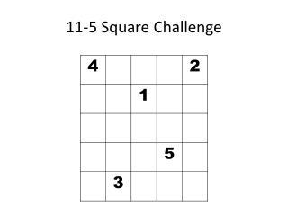 11-5 Square Challenge