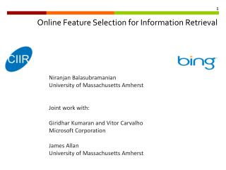 Online Feature Selection for Information Retrieval