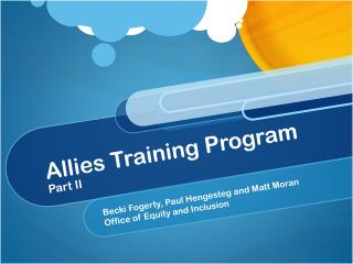 Allies Training Program Part II