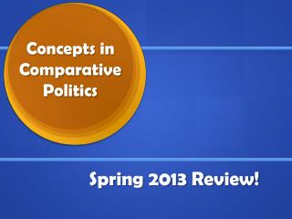 Concepts in Comparative  Politics
