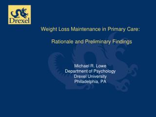 Weight Loss Maintenance in  Primary Care
