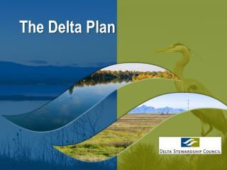 The Delta Plan