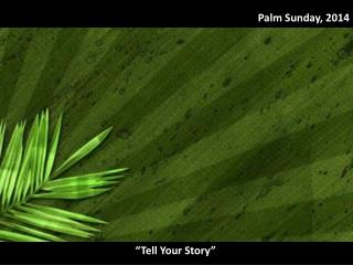 Palm Sunday, 2014