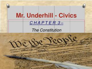 Mr. Underhill - Civics