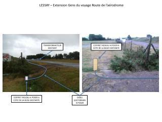 LESSAY – Extension Gens du voyage Rout e de l'aérodrome