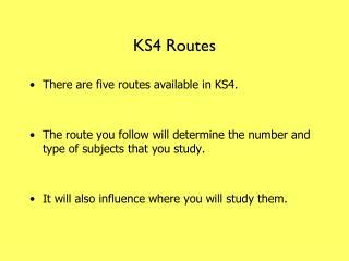 KS4 Routes