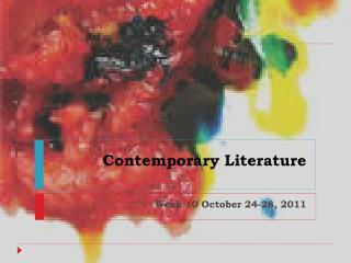 Contemporary Literature