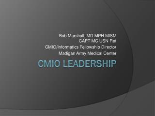 CMIO Leadership