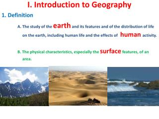I. Introduction to Geography