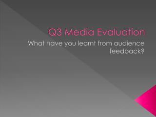 Q3 Media Evaluation