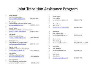 Joint Transition Assistance Program